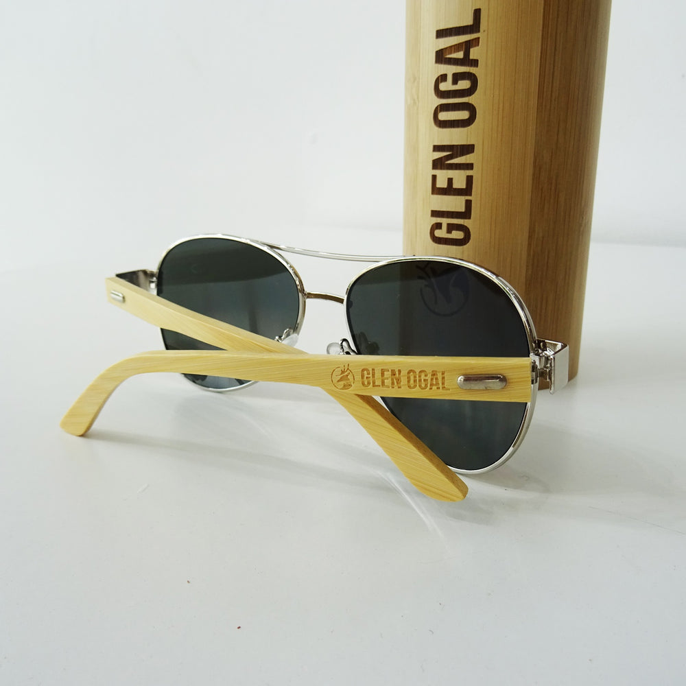 Sunglasses with Bamboo Case