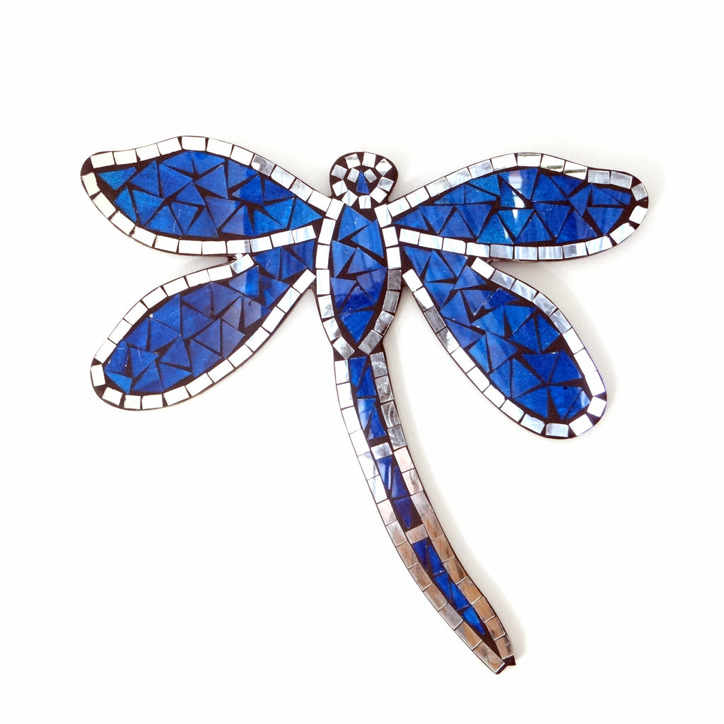 Blue Mosaic Dragonfly Wall Hanging