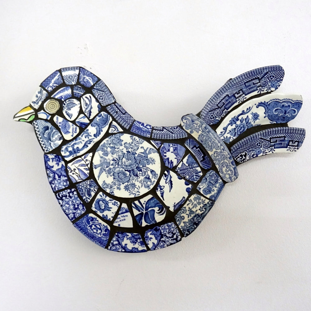 Load image into Gallery viewer, Mosaic Hanging Blue Bird