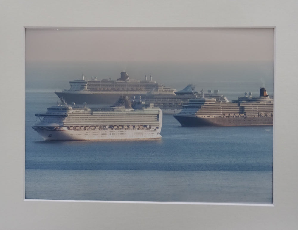 Cruise Ships in Lyme Bay