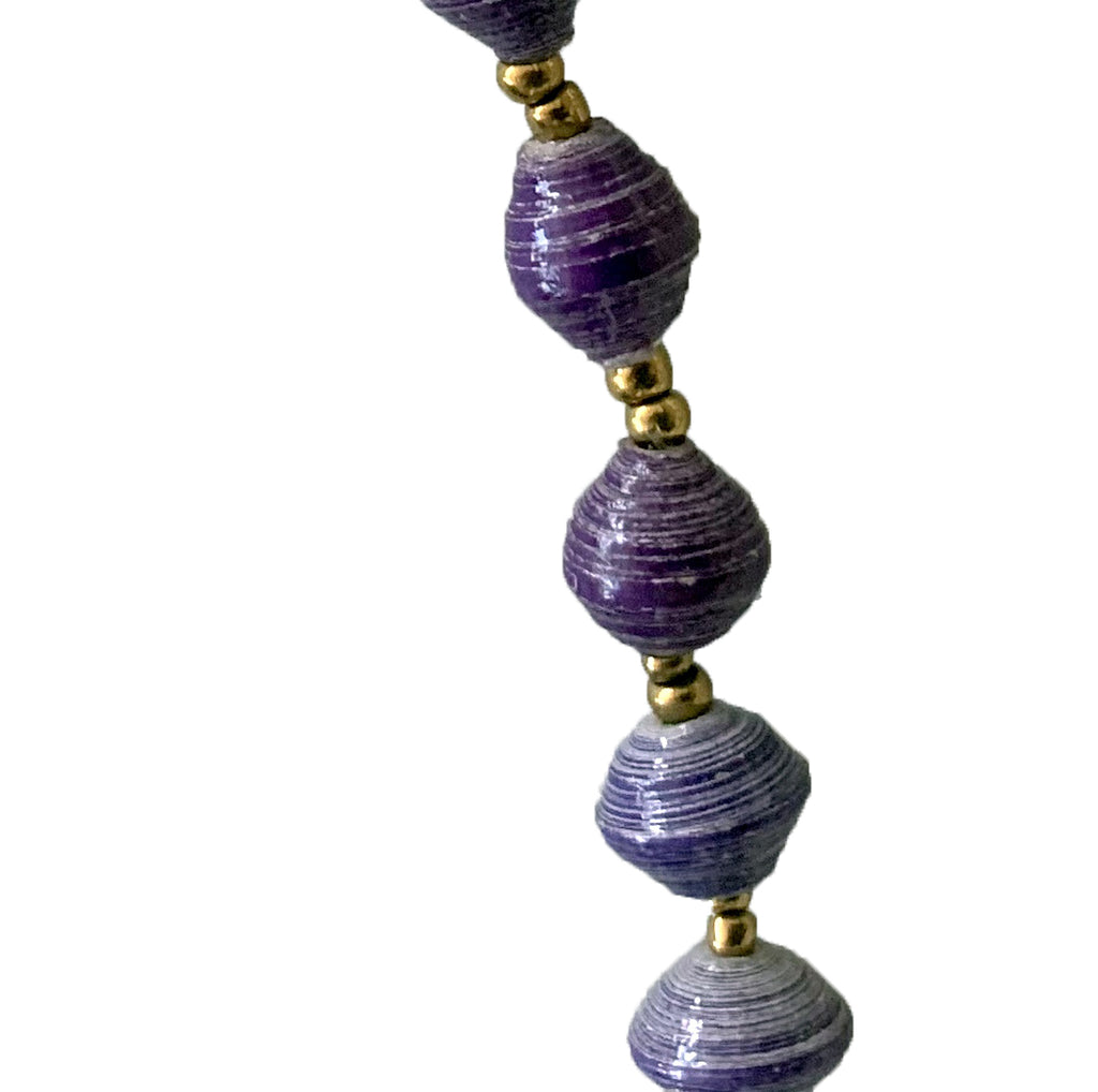 Eco-Friendly Purple Beaded Necklace