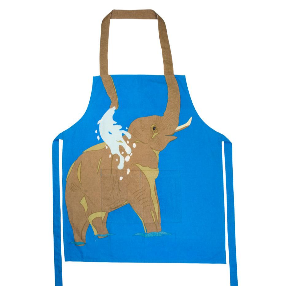 Elephant Cotton Apron