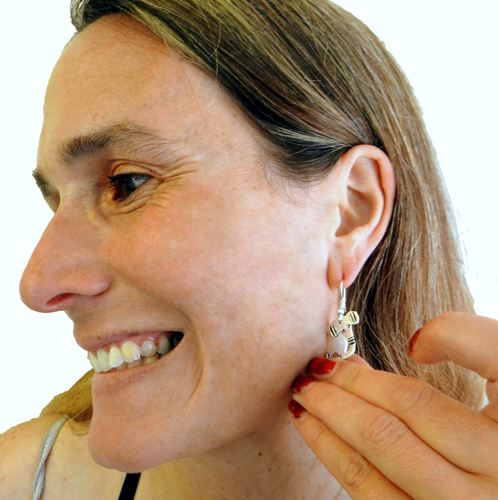 Fair Trade Elephant Earrings