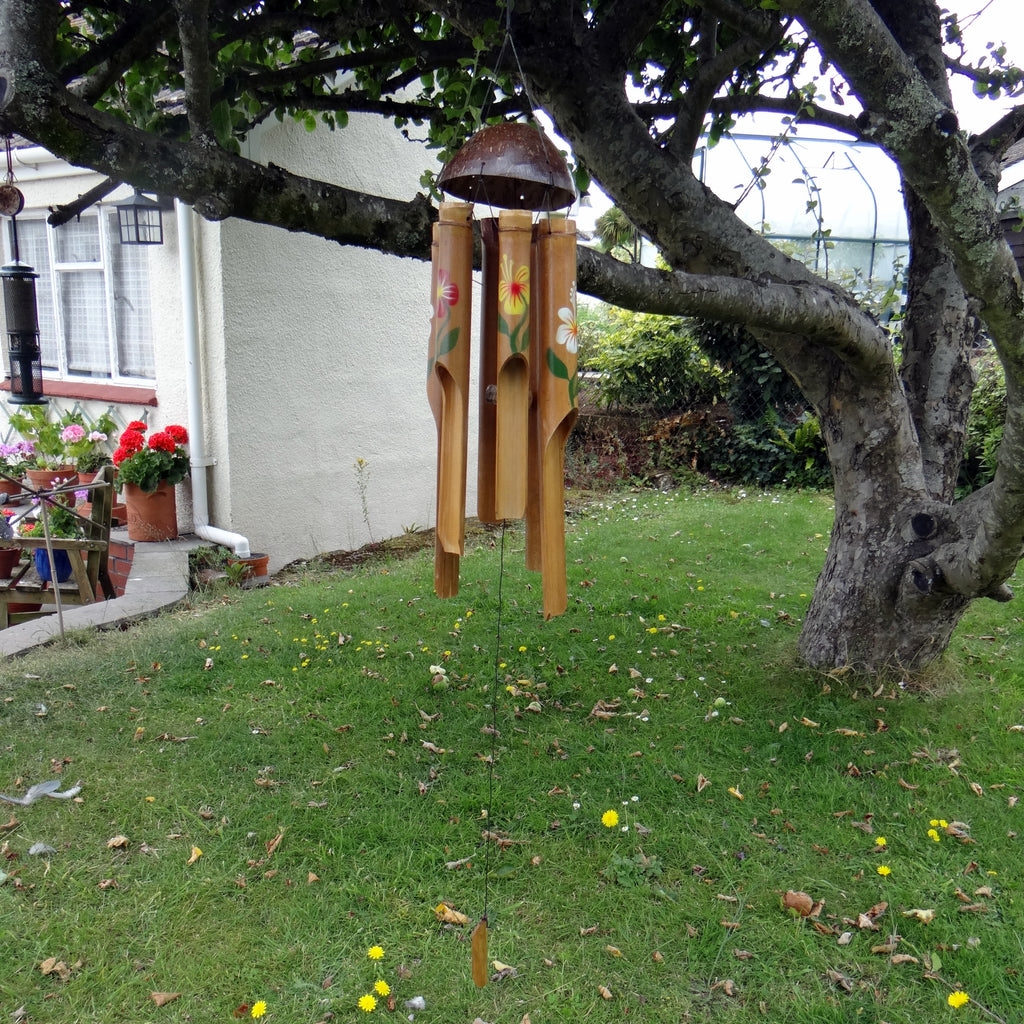 Flower Bamboo Wind Chime