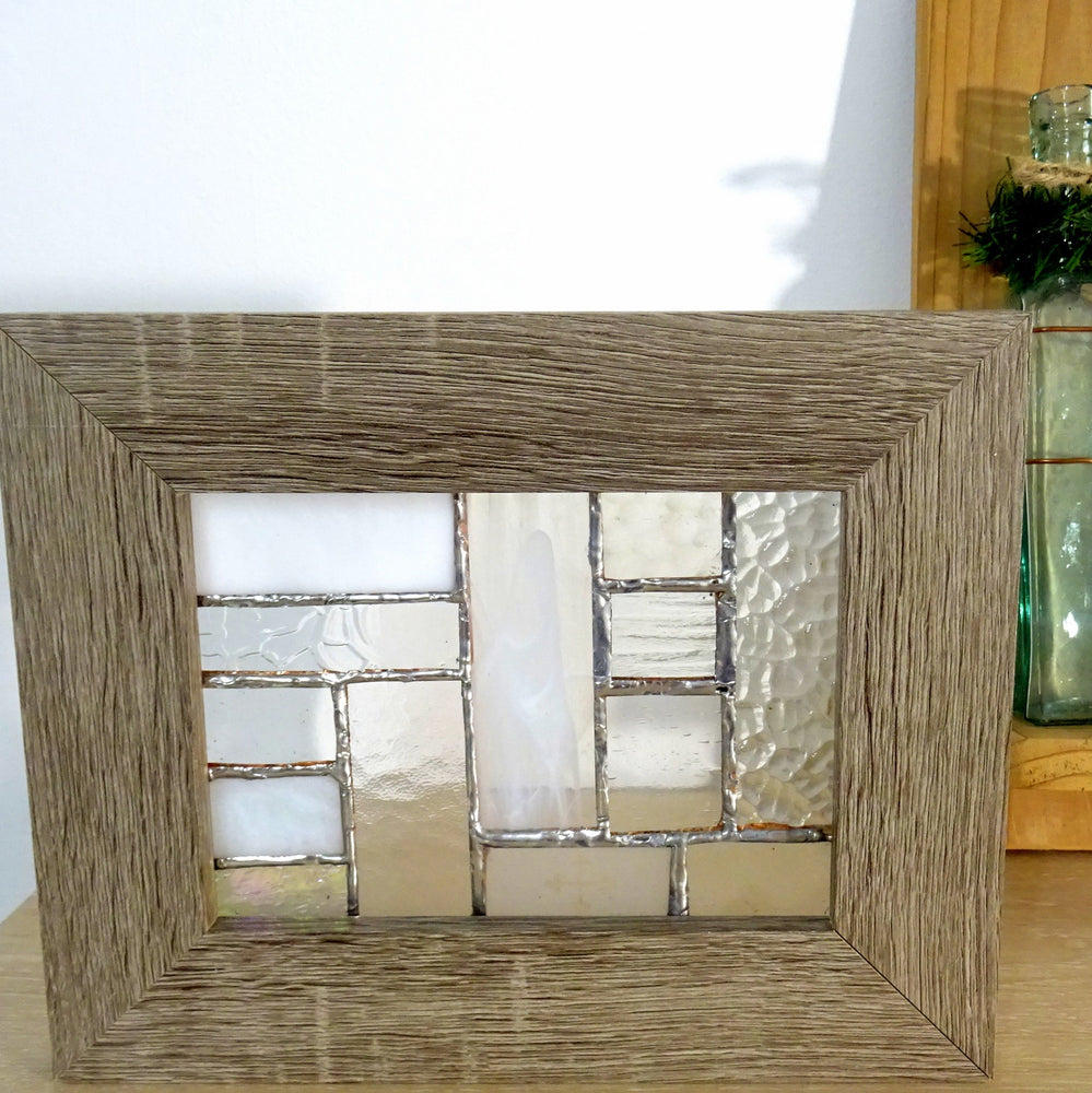 Load image into Gallery viewer, Framed Wooden Hermosa Glass