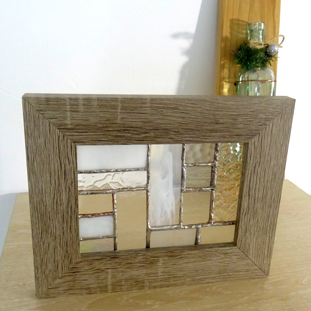 Framed Wooden Hermosa Glass