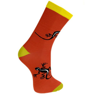Load image into Gallery viewer, Orange Gecko Bamboo Socks