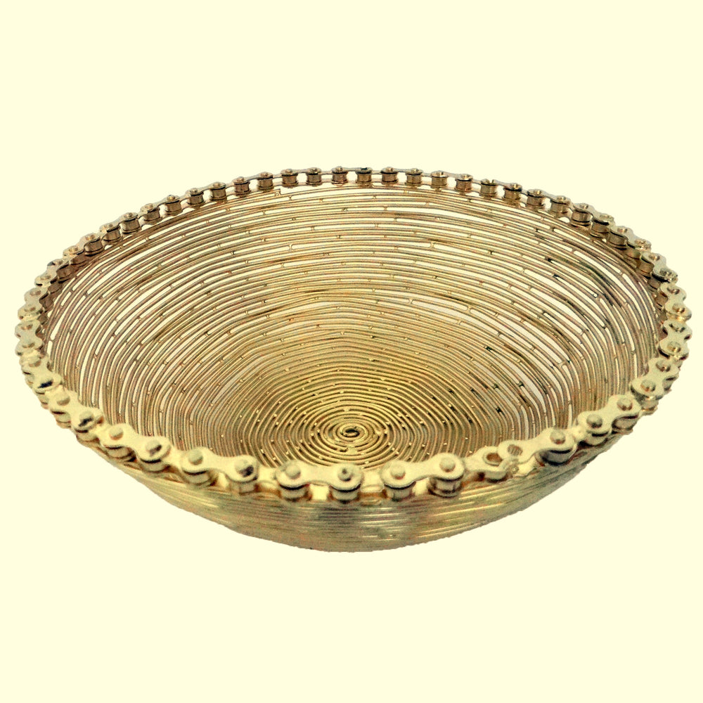 Golden Bike Chain Bowl