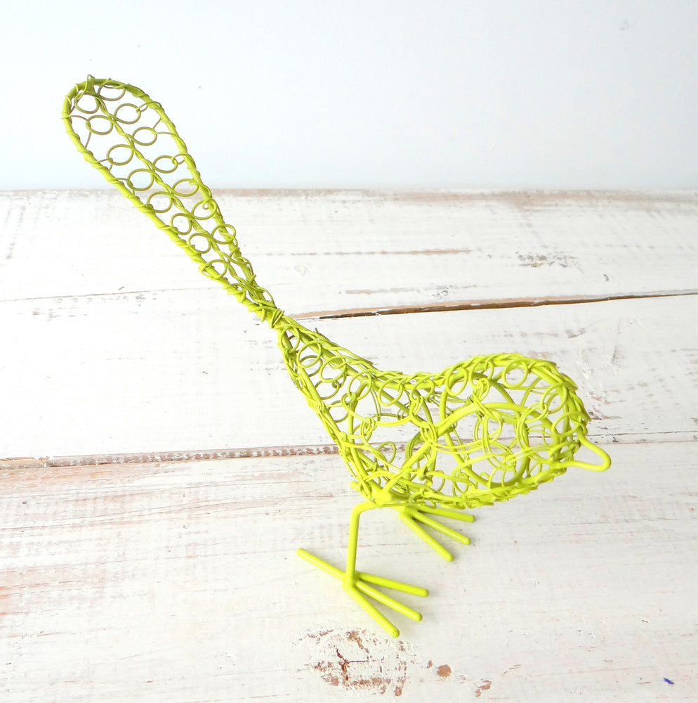 Yellow/Green Wire Bird
