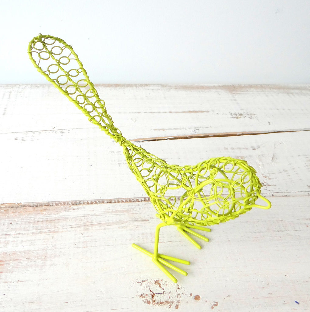 Green Wire Bird
