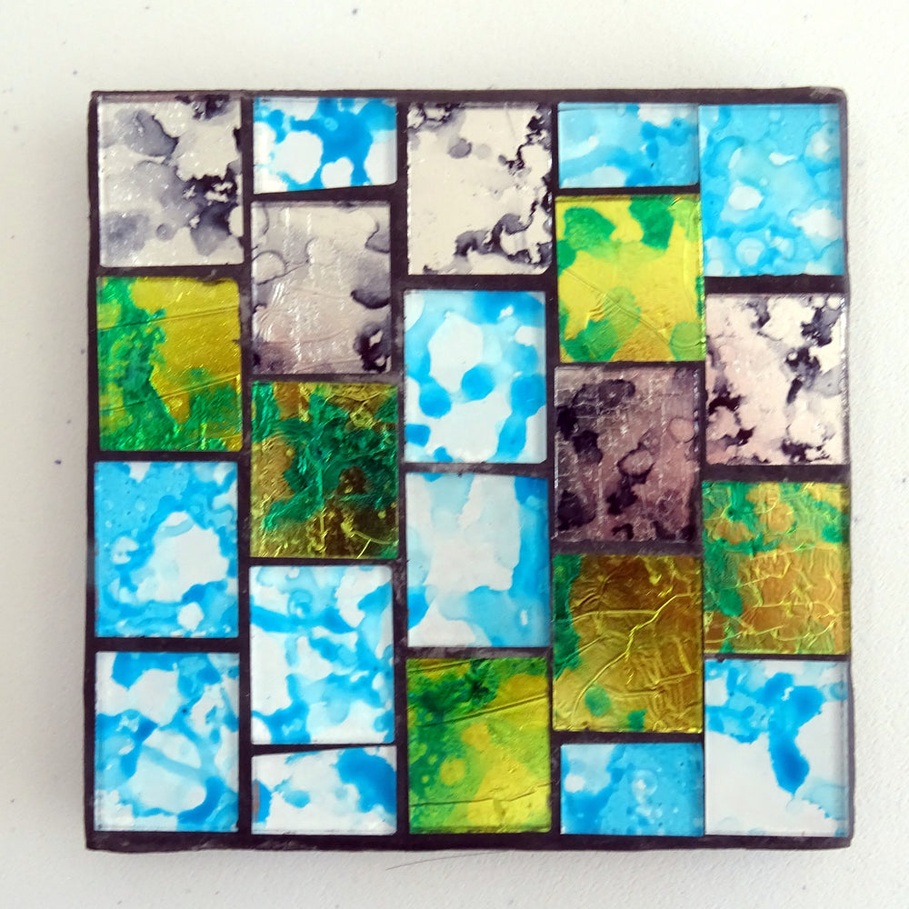 Green & Turquoise Mosaic Coaster
