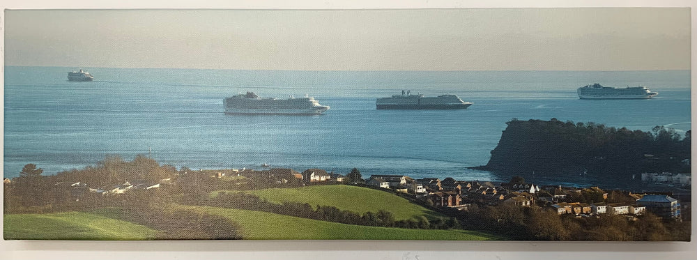 4 Cruise ships off the Ness (on canvas)