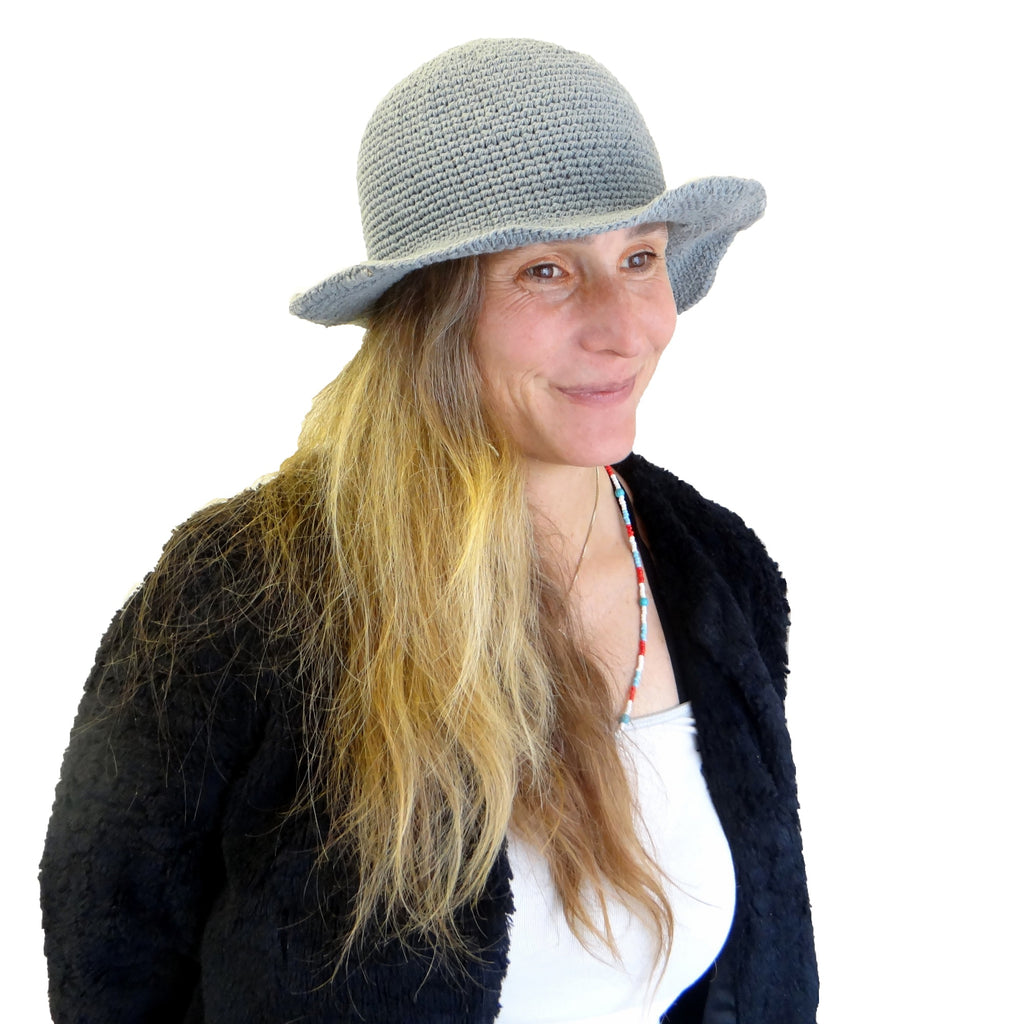 Trendy Fair Trade Blue Hat