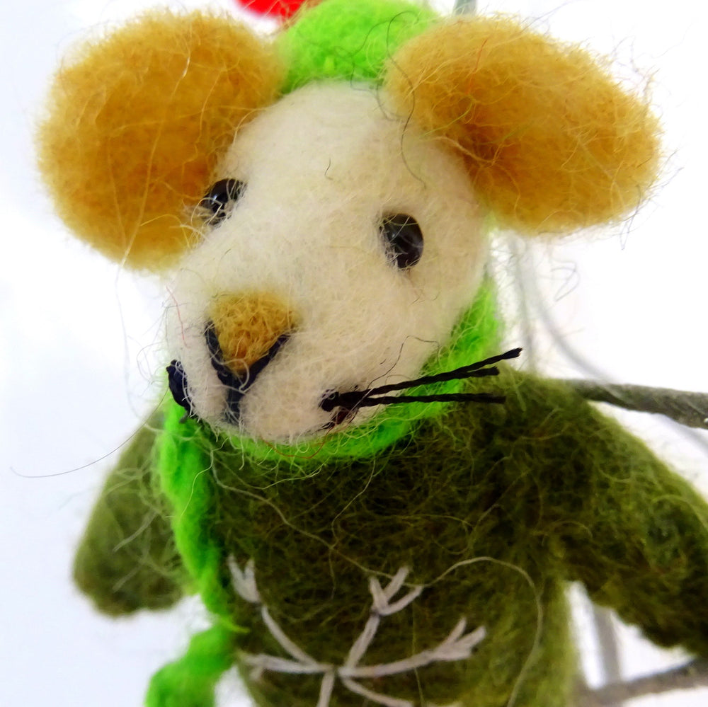 Christmas Mouse Hanging Decoration