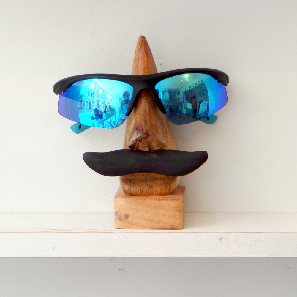 Moustache Spectacle Stand with Glasses