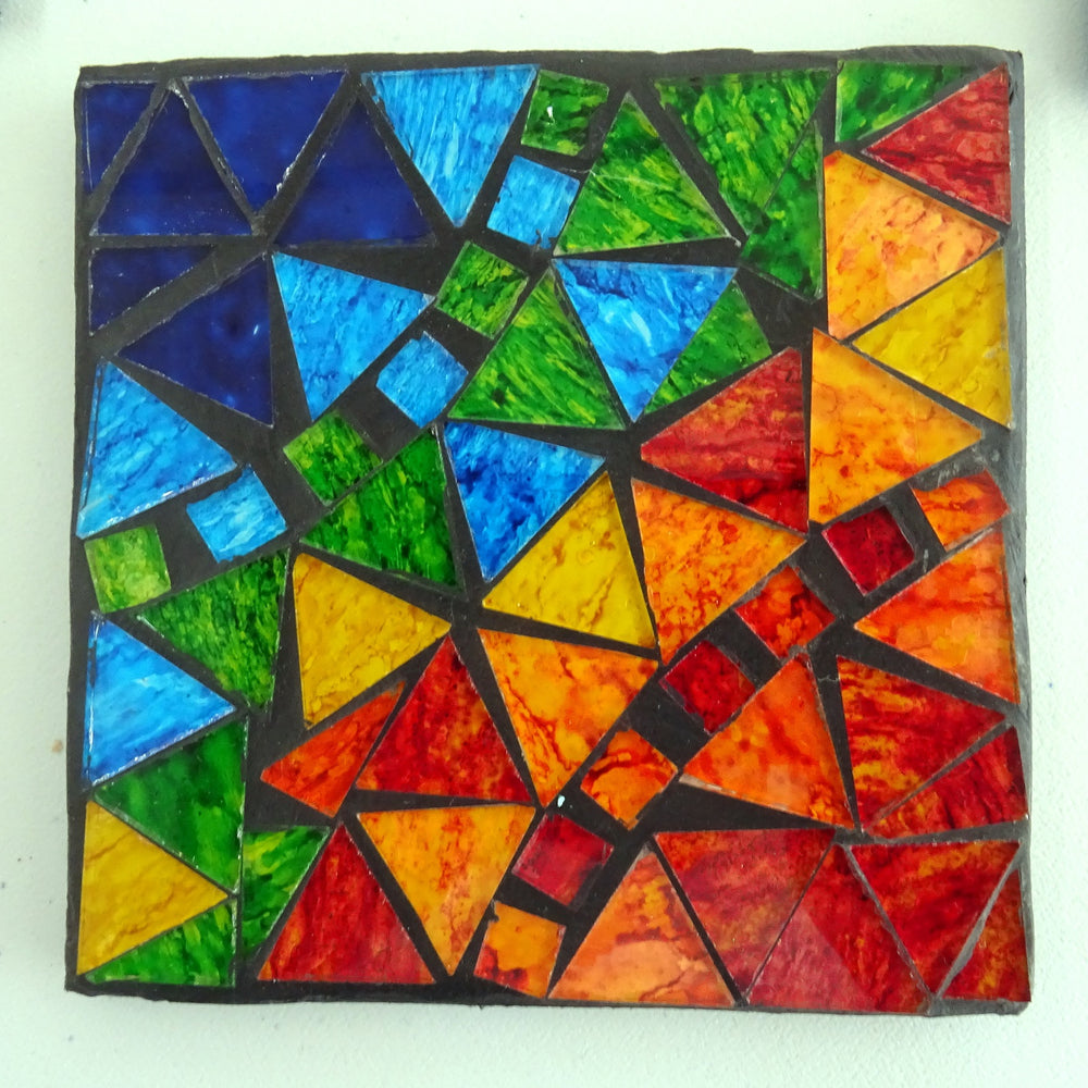 Multi-coloured Mosaic Coasters