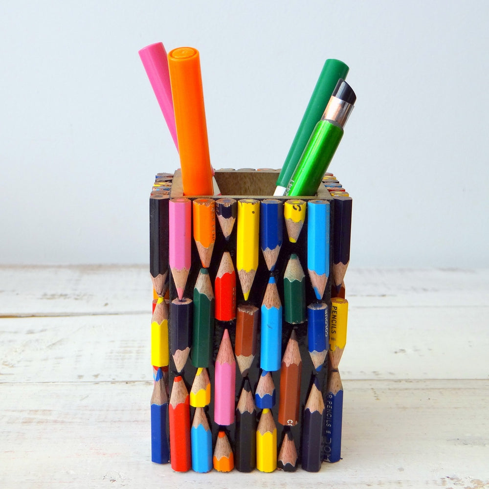Recycled Pencil Pen Pot