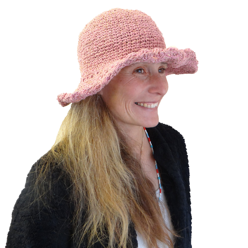 Pink Cotton Crocheted Hat