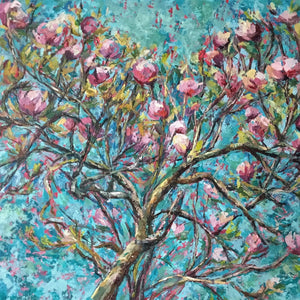Pink Magnolia Artwork by Clare Jenkinson
