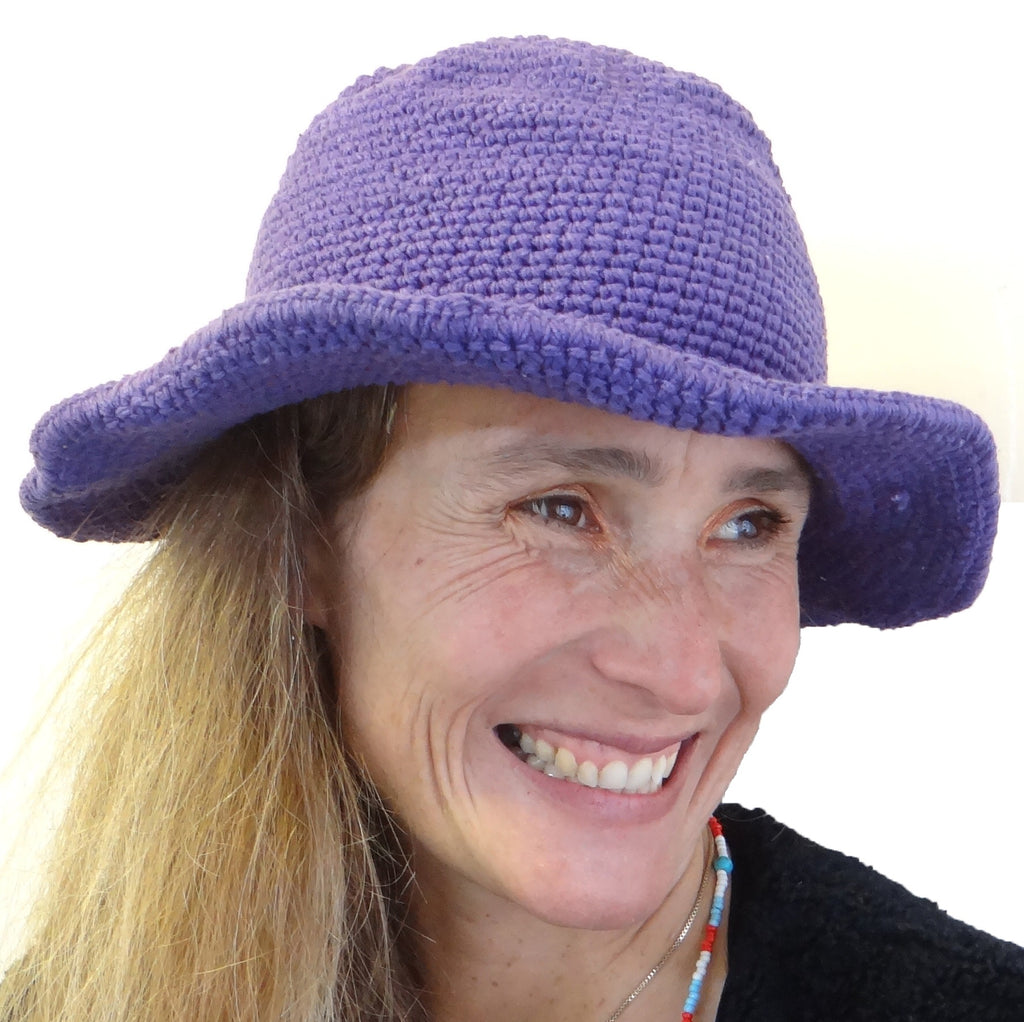 Trendy Fair Trade Purple Hat