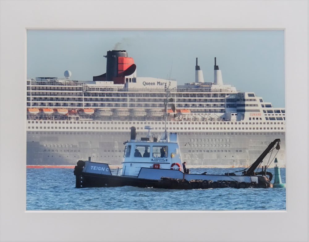 Queen Mary offshore Teignmouth