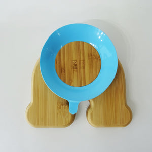 Rainbow Baby Bamboo Weaning Suction Section Plate