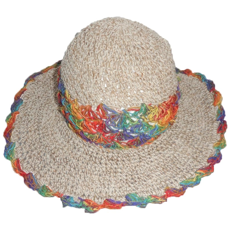 Fair Trade Rainbow Hemp and Cotton Hat