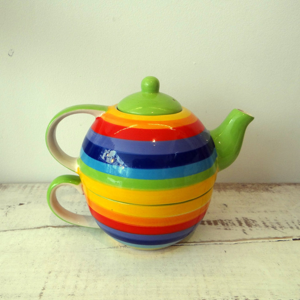 2-in-1 Rainbow Tea pot and cup