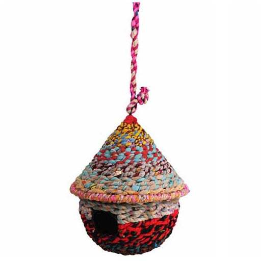 Circular Cotton Birdhouse