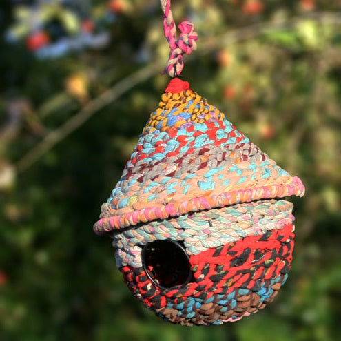 Cotton Circular Birdhouse