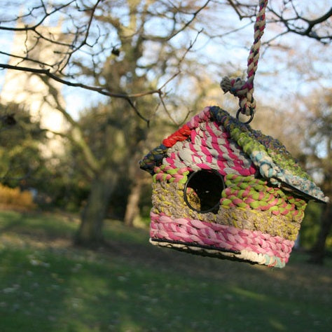 Cotton birdhouse