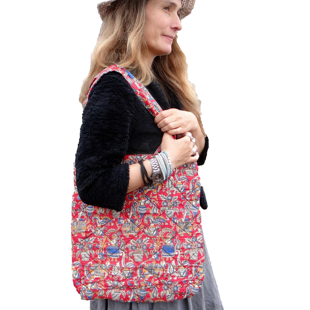 Red Ethnic Shoulder Bag