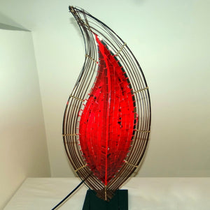 Red Flame Table Lamp