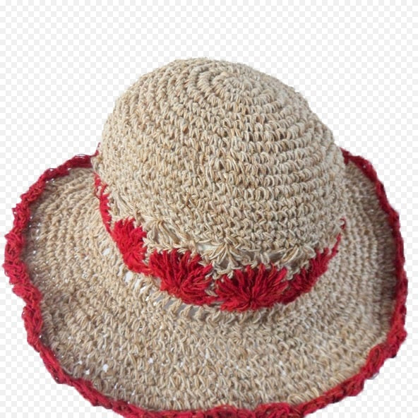 Fair Trade Red Hemp and Cotton Hat