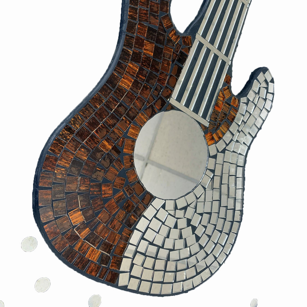 Hanging Red Mosaic Guitar