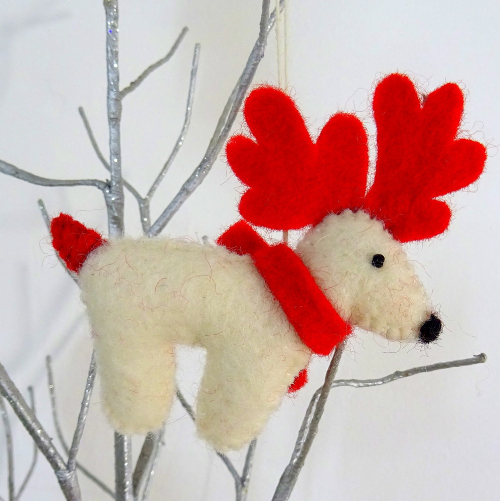 Load image into Gallery viewer, Christmas Reindeer Hanging Decoration