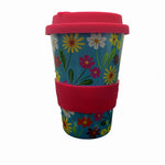 Multi-coloured Flowers Reusable Cup