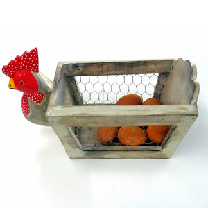 Rooster Egg Basket