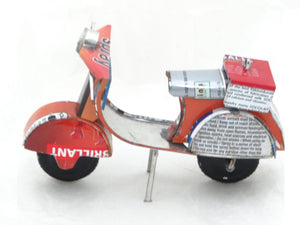 Model of a Scooter made from recycled tin.