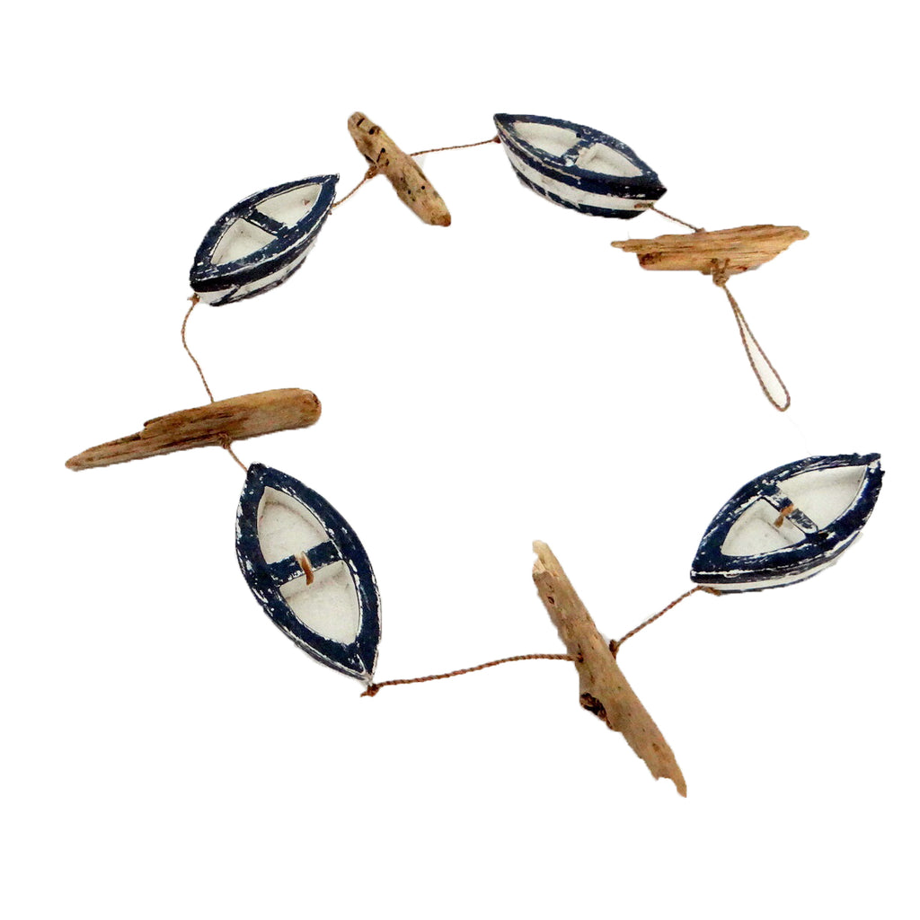 Wooden Sea Boat Hanging Mobile