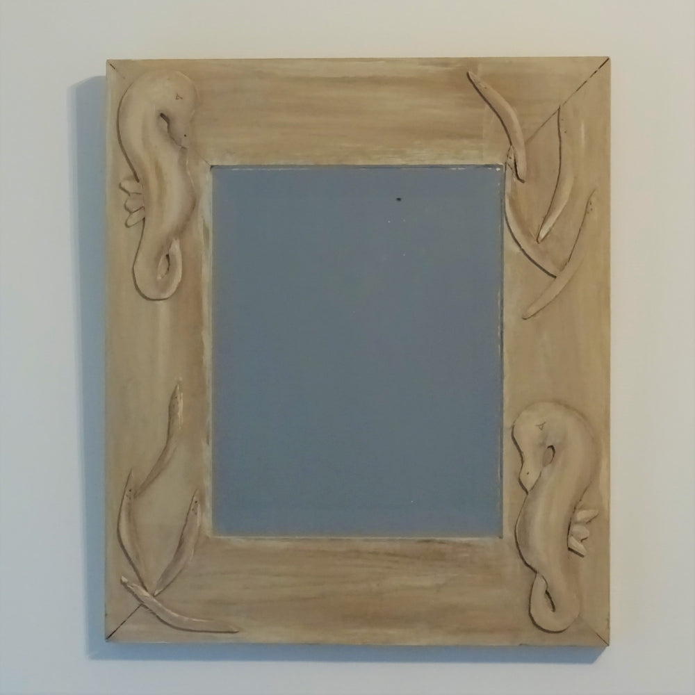 Load image into Gallery viewer, Sealife Wooden Mirror