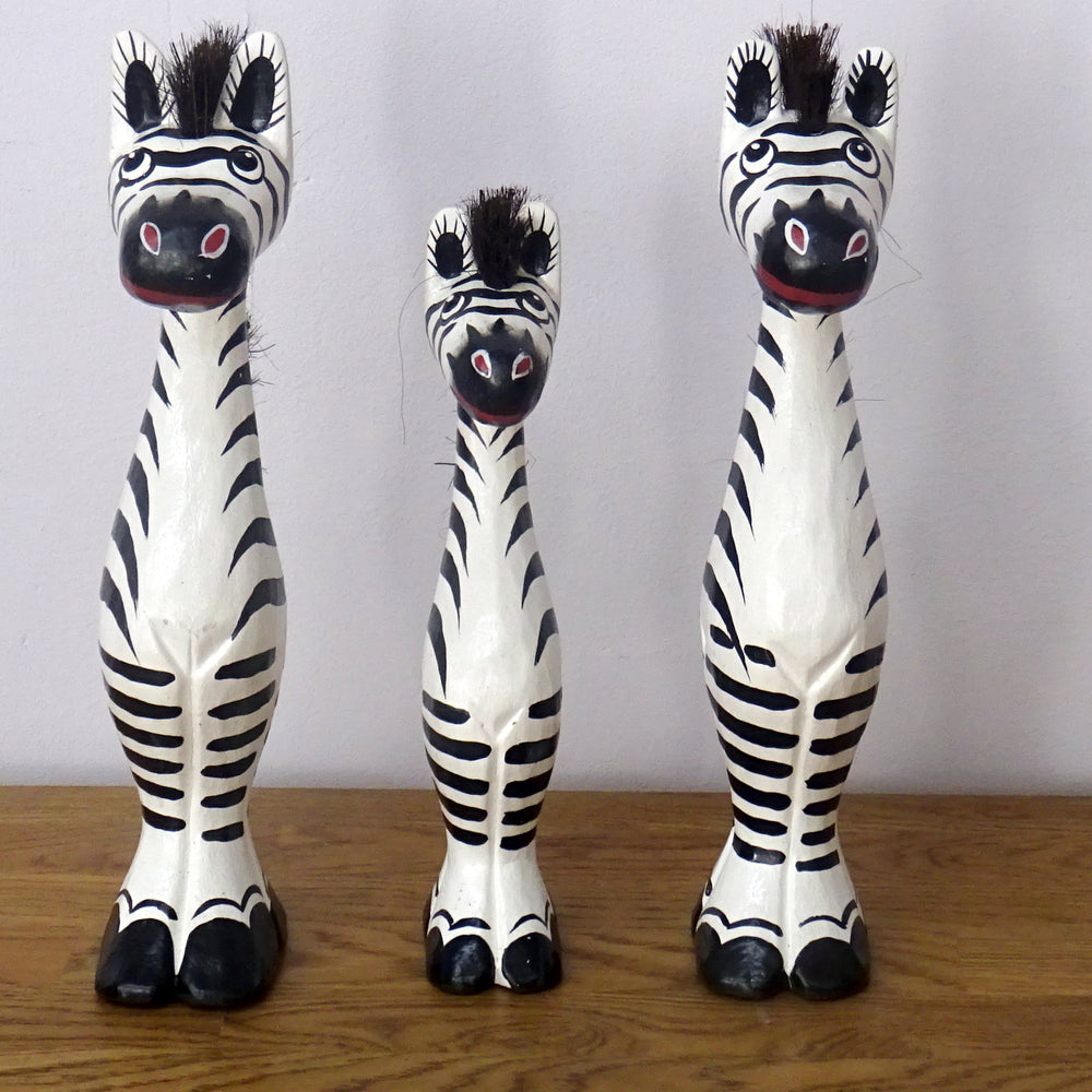Set of 3 Comical Zebras