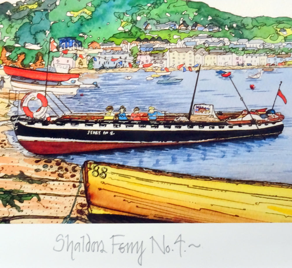 Load image into Gallery viewer, Shaldon Ferry Print