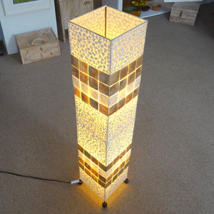 Load image into Gallery viewer, Large Shell Mosaic Lamp