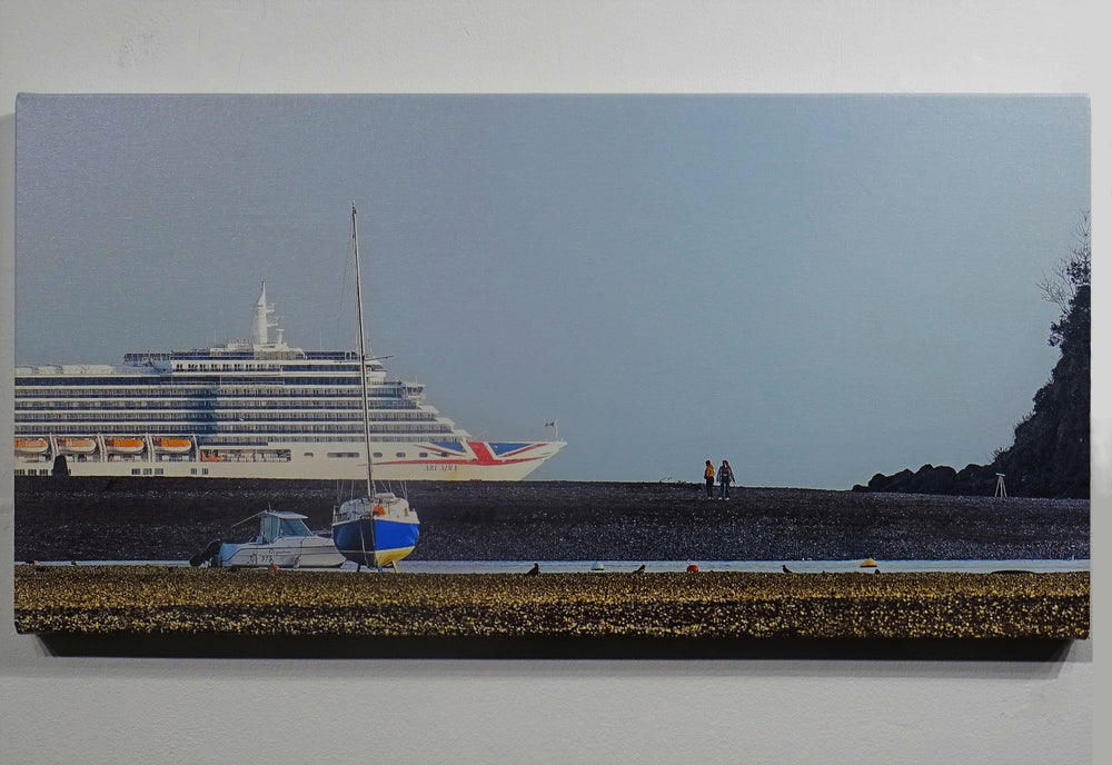 Ship In Lyme Bay Canvas Print