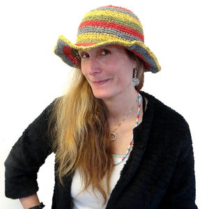 Load image into Gallery viewer, Soft Rainbow Hemp & Cotton Striped Hat