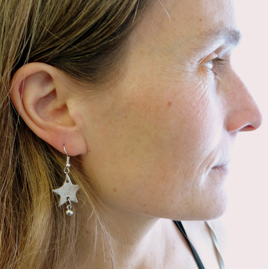 Nickel-free Star Earrings