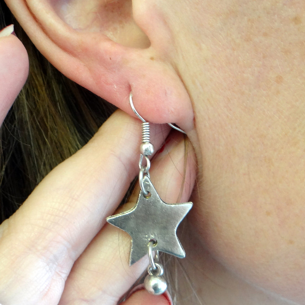 Fair Trade Star Earrings