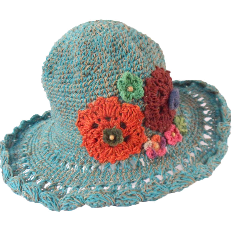 Bright Coloured Flower on Fair Trade Hat