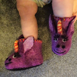 Unicorn Children Felt Slippers